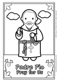 Padre Pio Coloring - Catholic