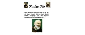 Padre Pio Lesson Plans