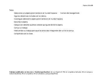 Paseo-Allende la luna: Carmen de George Bizet