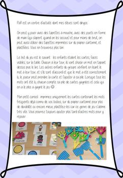 Paf! Bébés animaux (atelier mots fréquents) (french sight words)