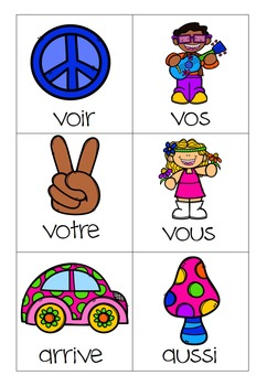Paf! Peace & Love (atelier mots fréquents) (french sight words)