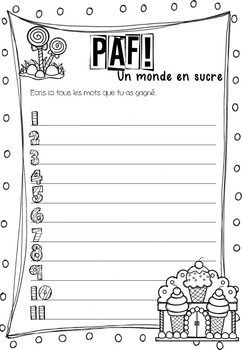 Paf! Un monde en sucre (Ateliers mots fréquents) (french sight words)