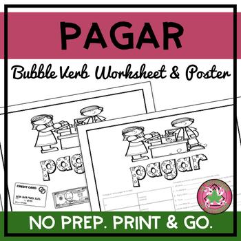 Pagar Bubble Verb Worksheet and Poster