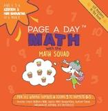 Page A Day Math ADDITION & MATH HANDWRITING series