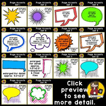 Page Accent BUNDLE {Sets 1-14 Clip Art for CU}