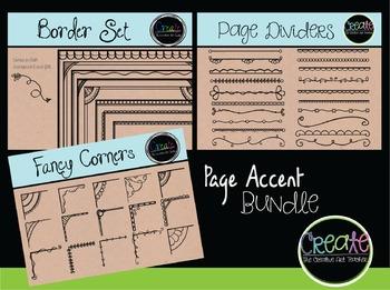 Page Accent Bundle - Digital Clipart