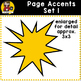 Page Accent Set 1 {Comic Book Action Bubbles for CU}