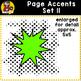 Page Accent Set 11 {Comic Book Action Bubbles for CU}