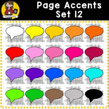 Page Accent Set 12 {Comic Book Speech Bubbles for CU}
