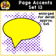 Page Accent Set 13 {Comic Book Speech Bubbles for CU}