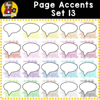 Page Accent Set 13 {Comic Book Speech Bubbles for CU}