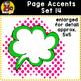 Page Accent Set 14 {Comic Book Speech Bubbles for CU}