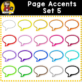 Page Accent Set 5 {Speech Bubbles for CU}