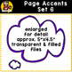 Page Accent Set 6 {Speech Bubbles for CU}