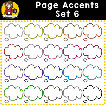 Page Accent Set 6 {Speech Bubbles for CU}
