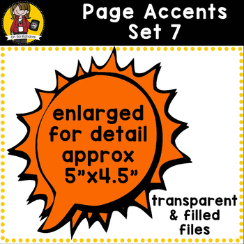Page Accent Set 7 {Speech Bubbles for CU}
