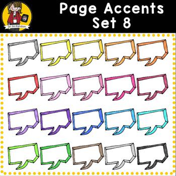 Page Accent Set 8 {Speech Bubbles for CU}