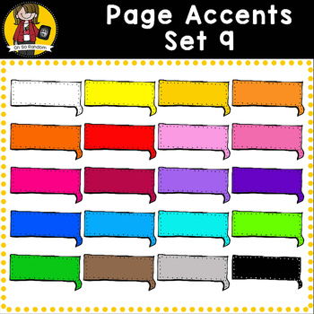 Page Accent Set 9 {Speech Bubbles for CU}