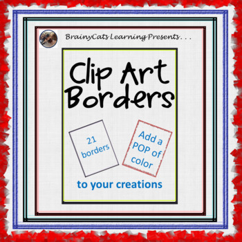 Colorful Clipart:  Page Borders and Frames