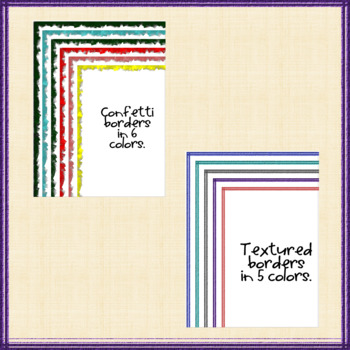 Colorful Clipart: Page Borders and Frames by BrainyCats Learning