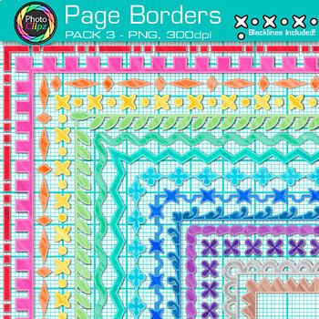 Page Border Clip Art Bundle {56 Rainbow Frames for Worksheets & Resources}