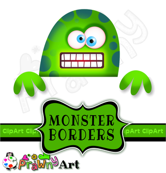 Page Border Clip Art Monsters