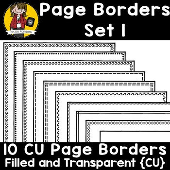 Page Border Set 1 {Borders for CU}