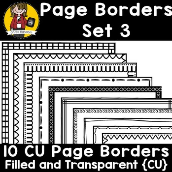 Page Border Set 3 {Borders for CU}