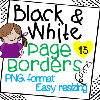 Page Borders. Black and White