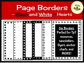 Valentine Borders/Frames - Black and White Hearts