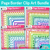 Border Clip Art Bundle | Rainbow Glitter Frames for Worksheets & Resources
