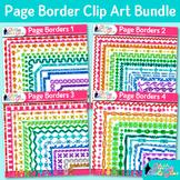 Border Clip Art Bundle | Rainbow Glitter Frames for Worksheets & Resources