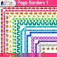 Border Clip Art Bundle {Rainbow Glitter Frames for Workshe