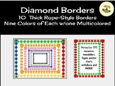 Page Borders/Frames - Thick Diamond-Shaped