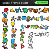 Page Borders and Frames Clipart: back to school