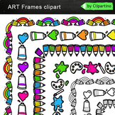 Page Borders and Frames Clipart: school supplies