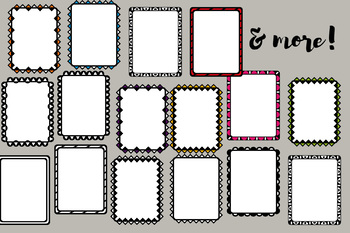 Page Borders, commercial use (30 frames clip art)