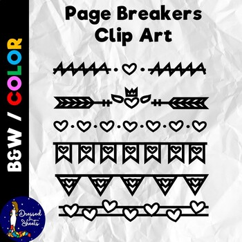 Page Breakers Clip Art