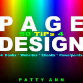 Graphic Arts Design: 50 Page Layout Format TiPs *Books *Websites *Powerpoints