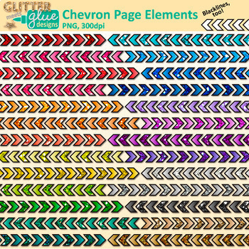 Page Dividers Clip Art Bundle | Rainbow Glitter Borders for Worksheets