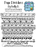 Page Dividers Clipart By Kelly B.