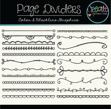 Page Dividers - Digital Clipart
