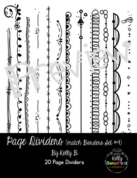 Page Dividers (Match Borders Set #4) by Kelly B