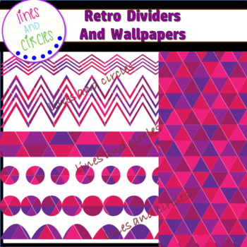Page Dividers and Wallpapers Clipart - Retro Bundle