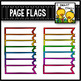 Page Flags Clip Art