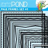 Page Frame Set 1 -  Borders Great For Worksheet Edges!
