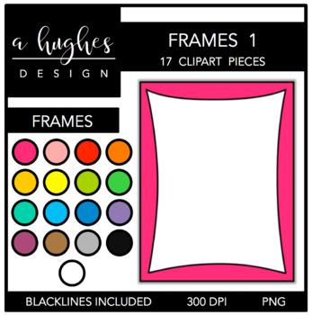 Page Frames Clipart Set: 1 {A Hughes Design}