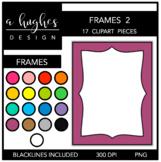 Page Frames Clipart Set: 2 {A Hughes Design}