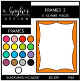 Page Frames Clipart Set: 3 {A Hughes Design}