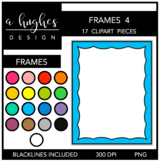 Page Frames Clipart Set: 4 {A Hughes Design}